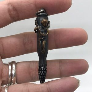 BORA sterling silver gothic angel bullet  pendant